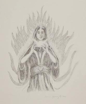 Spiritual Energy Art Drawing - Awakening by Bruce Zboray