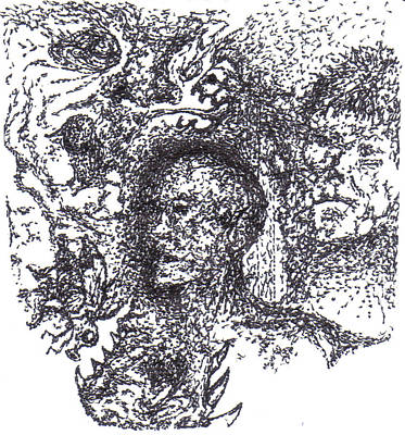 Pointalism Drawing - Awakening by Charles Kabrich