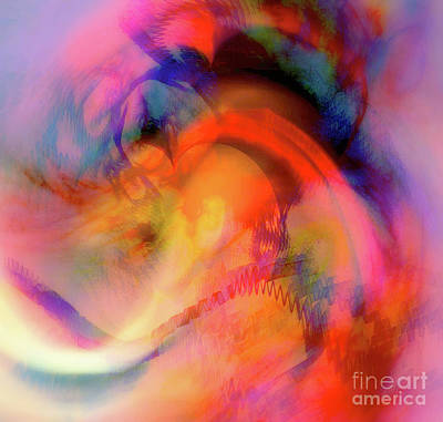 Digital Art - Awakening Heart 5 by Helene Kippert
