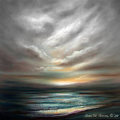 Painting - Away - Square Sunset by Gina De Gorna