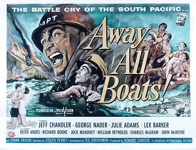 Posth Photograph - Away All Boats, Jeff Chandler, George by Everett