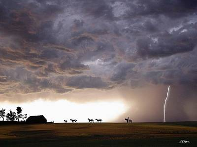 Awesome Storm Art Print by Bill Stephens