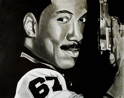 Beverly Hills Drawing - Axel Foley by Saheed Fawehinmi