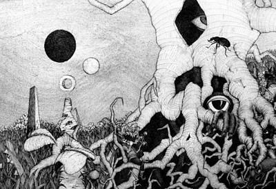 Drawing - Axis Mundi by Mariusz Zawadzki