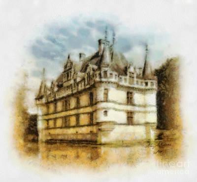Azay Le Rideau Art Print by Mo T