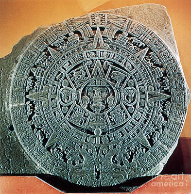 Tons Of Photograph - Aztec Calendar Stone by Science Source