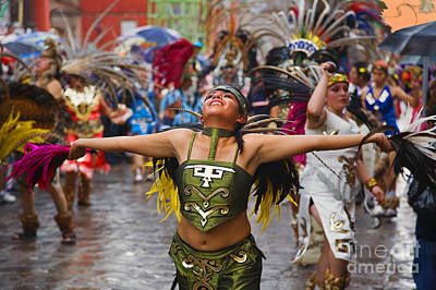 Art Print featuring the photograph Aztec Dancer - San Miguel De Allende by Craig Lovell