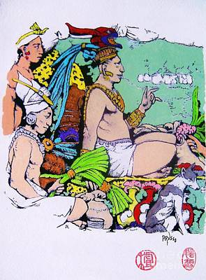 Painting - Aztec Priest by Roberto Prusso