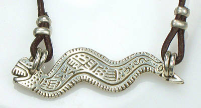 Jewelry - Aztec Serpent Fine Silver Talisman by Vagabond Folk Art - Virginia Vivier