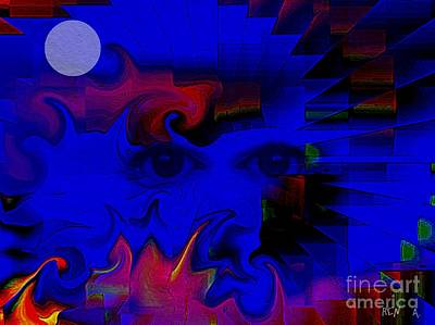 Aztec Woman Of The Moon Art Print by Rene Avalos