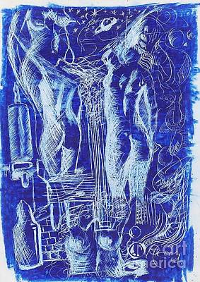 Azul 08 Art Print by Marcos