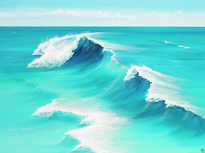 Surf Painting - Azure Dreams by Colin Perini