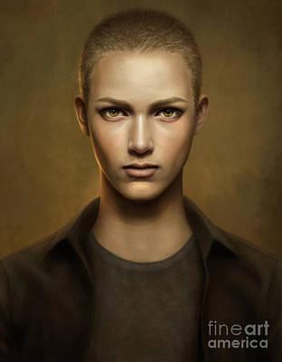 Male Portrait Painting - Azusa by Doris Mantair