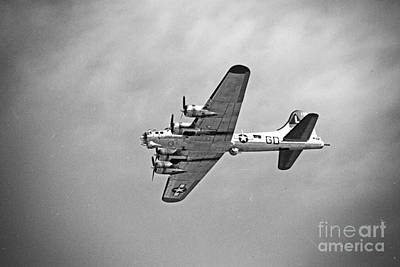 Art Print featuring the photograph B-17 Bomber - Dust And Scratch by Thanh Tran