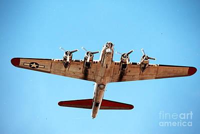 B-17 Bomber - Technicolor Art Print by Thanh Tran