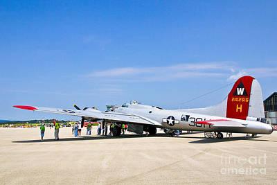 Photograph - B-17 Flying Fortress by John Waclo