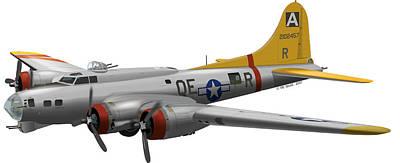 B-17g Of The 94th Bomb Group Art Print by Matthew Webb