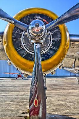 Photograph - B-25 Prop Hdr by Lynnette Johns