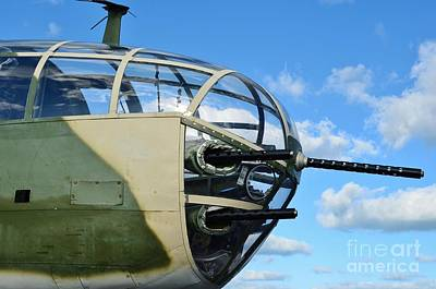 Photograph - B-25j Nose by Lynda Dawson-Youngclaus
