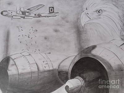 B-29 Bombing Run Over Europe Art Print