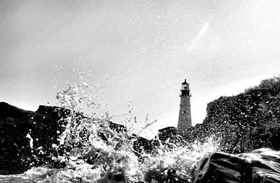 Photograph - B N W Splash by Emily Stauring