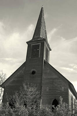 Photograph - B W Church by Sara Stevenson