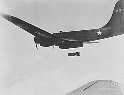 High Altitude Flying Photograph - B17 Flying Fortress Bomber by Padre Art