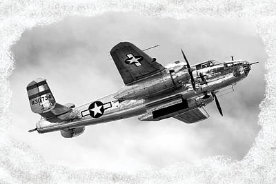 B25 Photograph - B25 In Flight by Greg Fortier