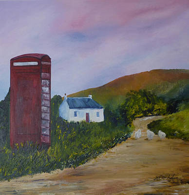Humourous Painting - Baa Out Of Order Again by Margaret Denholm