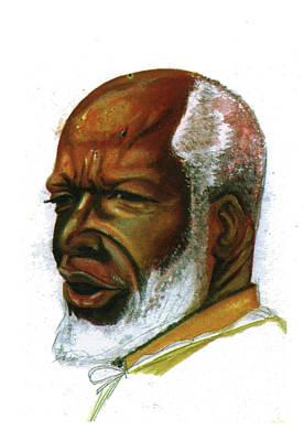 Baba Portrait Painting - Baba Simon by Emmanuel Baliyanga