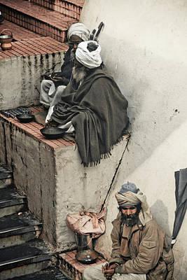 Ashram Wall Art - Photograph - Baba's On Stoop by John Battaglino