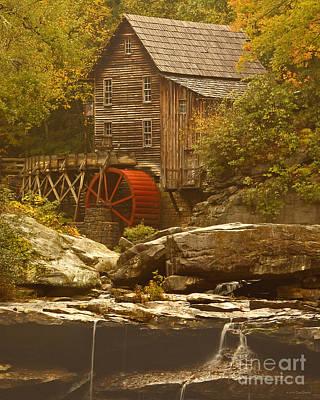 Babcock Glade Creek Grist Mill Autumn  Art Print