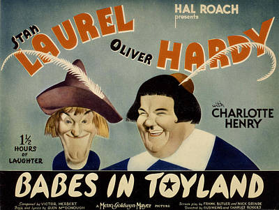 Babes In Toyland,from Left, Stan Art Print by Everett