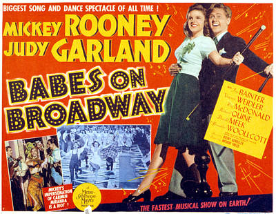 Posth Photograph - Babes On Broadway, Judy Garland, Mickey by Everett
