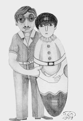 Drawing - Babushka by Rachel Hershkovitz