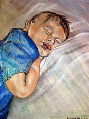 baby Baptism Art Print by Amanda Dinan