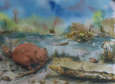 Painting - Baby Beaver I by Barbara McGeachen
