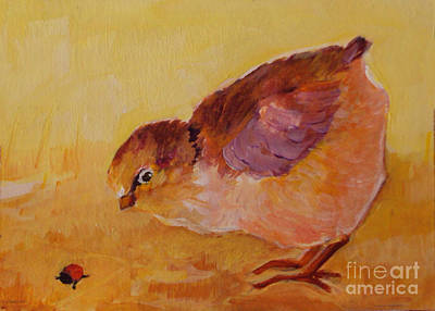 Painting - Baby Bird by Diane Ursin