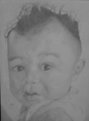 Drawing - Baby Boy by Milton  Gore