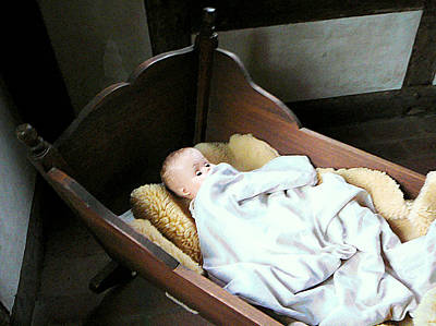 Photograph - Baby Doll In Cradle by Susan Savad