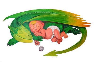 Baby Dragon Art Print by Harm  Plat