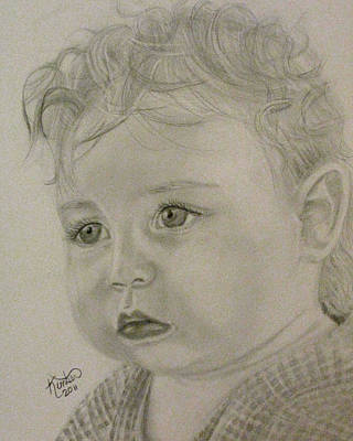Drawing - Baby Face by Kimber  Butler