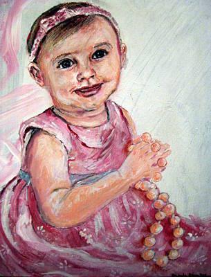Baby Girl 2 Art Print by Amanda Dinan