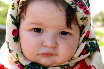 Photograph - Baby Girl From Maramures Romania by Emanuel Tanjala
