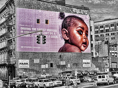 Photograph - Baby Girl On Wall by Bennie Reynolds