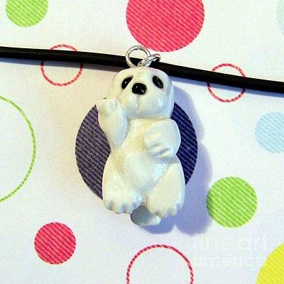 Jewelry - Baby Harbor Seal Endangered Animini Necklace by Pet Serrano