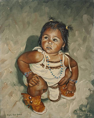Baby Leah Art Print by C Michael French