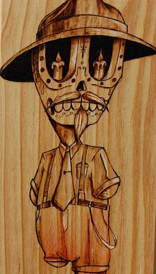 Pyrography Pyrography - Baby Pachuco by Marlon Ivory
