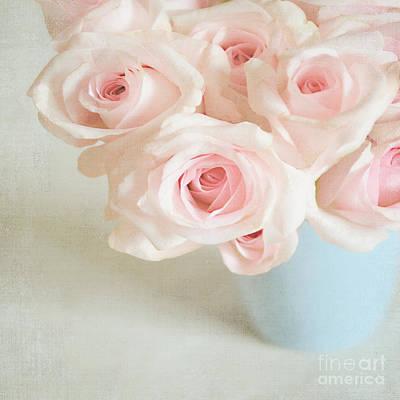 Baby Pink Roses Art Print by Lyn Randle