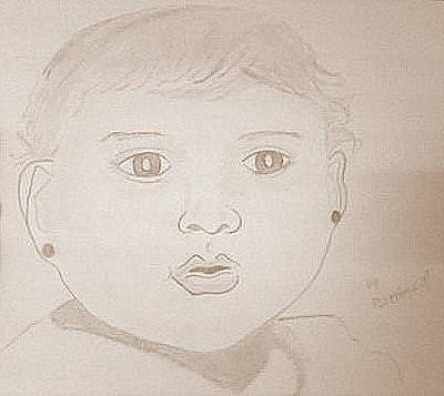 Drawing - Baby  by Poornima M